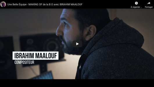 Ibrahim compose la musique du film Une Belle Équipe de de Mohamed Hamidi